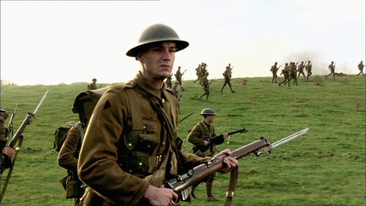 James D'Arcy with a Lee-Enfield Mk.III* as Pvt. Daventry in The Trench (1999)  http://www.imfdb.org/wiki/James_D'Arcy