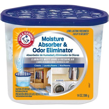 Arm and Hammer Moisture Absorber and Odor Eliminator, 14 oz Tub, Multicolor