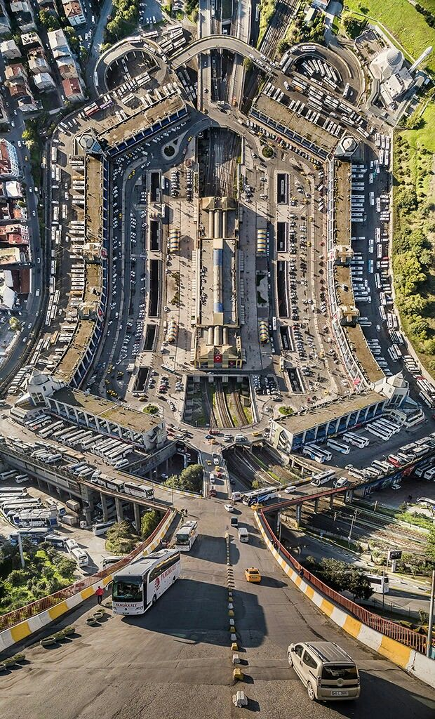 Inception style vertical panoramas. Taken with a quadcopter by Aydin Buyuktas