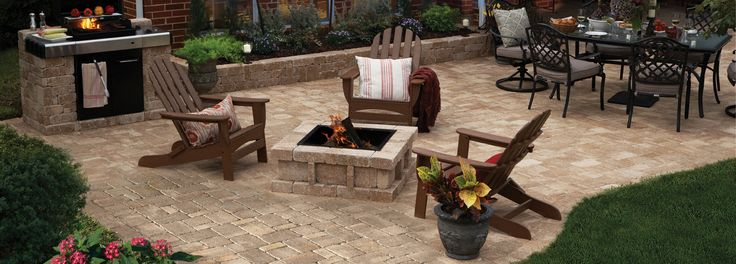 Backyard Living Ideas a rumblestone™pavestone backyard living space #diy | imagine