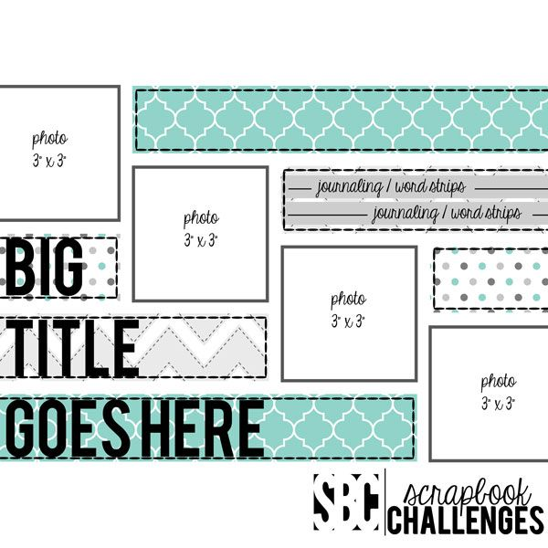 Scrapbook Challenges Sketch 435