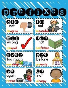 Prefix and Suffix Freebie ...Follow for Free 'too-neat-not-to-keep' teaching tools other fun stuff :)