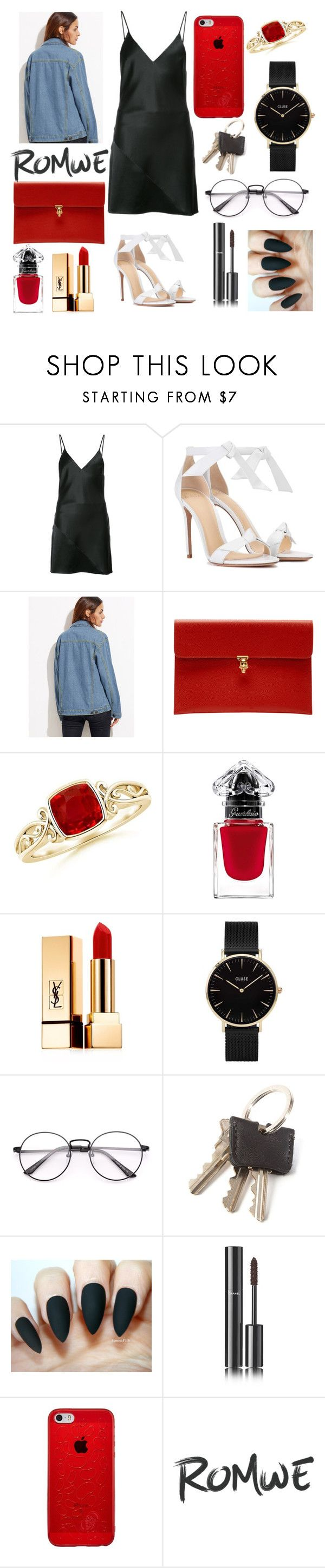 """lalalalala"" by jadabr ❤ liked on Polyvore featuring Fleur du Mal, Alexandre Birman, Alexander McQueen, Yves Saint Laurent, CLUSE and Chanel"