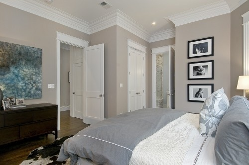 Third angle/shot of Hampshire Taupe 990 by Benjamin Moore. Looks a bit darker in this shot than previous two.