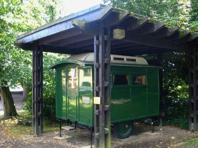 Gilwell Park Londen. Eccles, de caravan van Robert Baden Powell.