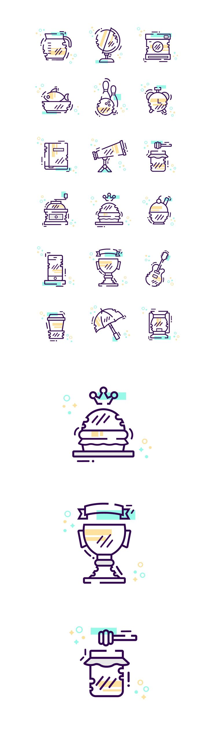"""Check out my @Behance project: """"Random icon set"""" https://www.behance.net/gallery/50567681/Random-icon-set"""