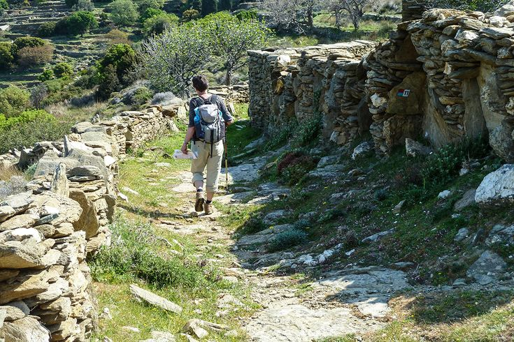Tranquil Andros is a walkers' paradise.