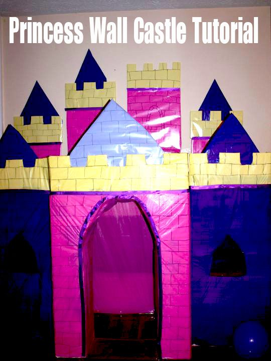 Step By Princess Wall Castle Tutorial Costs Around 3 4 To Make From Dollar