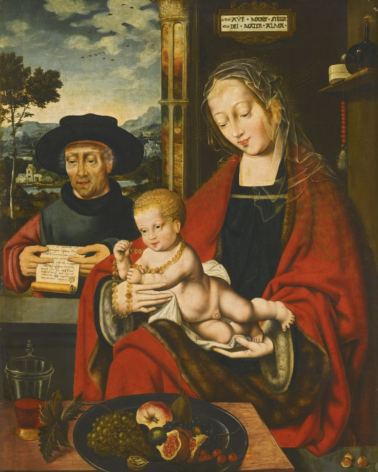 Workshop of  Joos van Cleve (c.1485-1540/1541) —   The Holy Family,  c.1525 (1601x200):