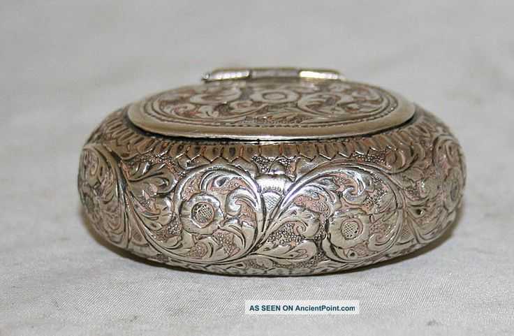 Antique Snuff Tobacco Box Sterling Silver Austro Hungary 19th Century,  1850-1899