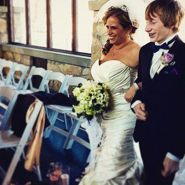 What a happy bride!