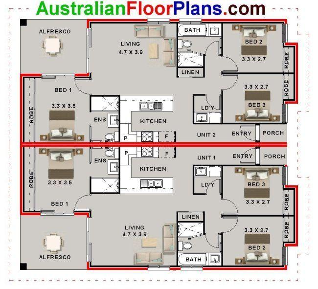 Duplex design australlian duplex and dual living house for Dual living house plans