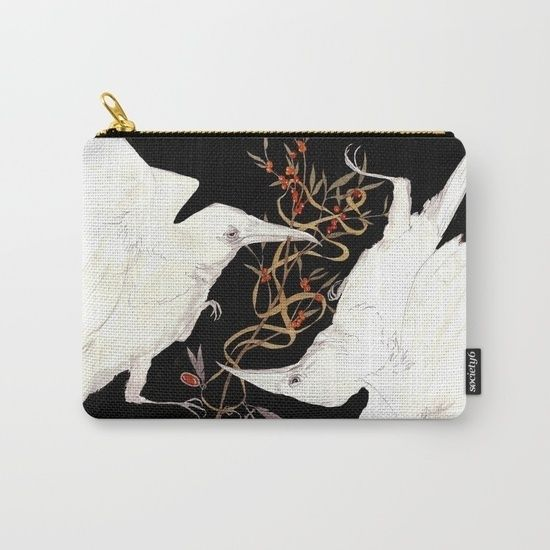 Buy this carry-all pouch and other cool stuff with my illustrations on society6.com/anezkabauer  .  .  .  #society6 #illo #illustration #czechillustrators #art #totebag #showyoirwork #artfair #artprint #raven #ravens #nature #black #white #ink #watercolors #illustratorsoninstagram