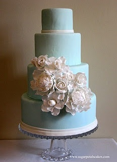 So gorgeousTiffany Cake, White Cake, White Flower, Tiffany Blue Weddings, Cake Wedding, Blue Wedding Cakes, Blue Cakes, Beautiful Cake, Something Blue