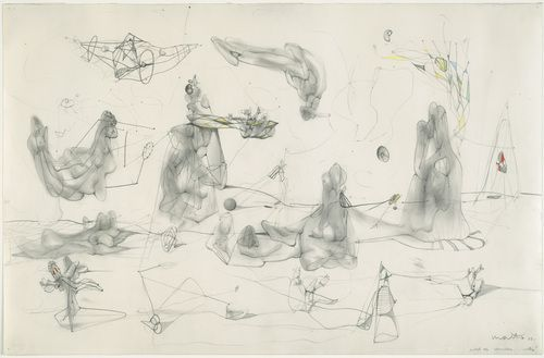 Endless Nude  Roberto Matta (Chilean, 1911–2002)    1938. Pencil and crayon on paper
