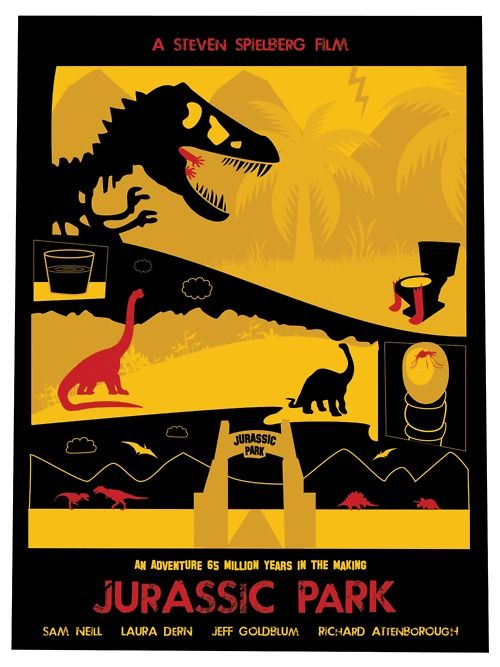 """Haiku Review - JURASSIC PARK - When theme parks go wrong / T-Rex scene still terrific / Raptor – """"Clever girl"""""""