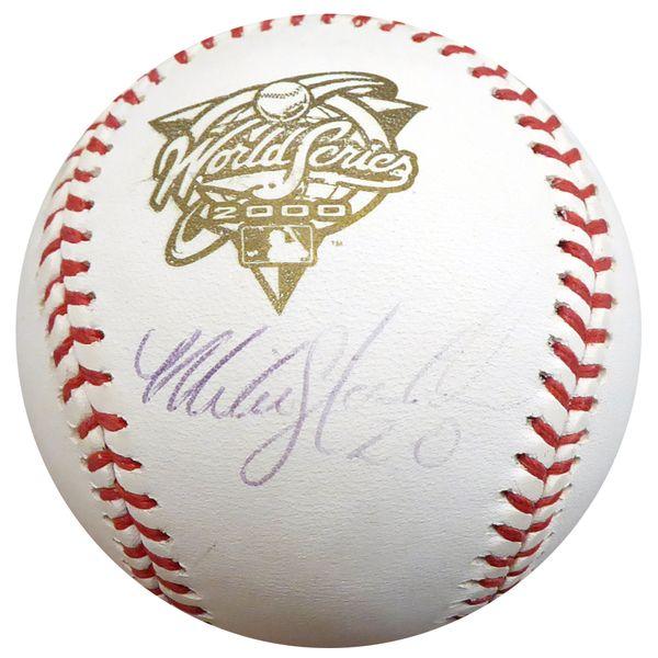 Mike Stanton Autographed Official 2000 World Series Baseball New York Yankees Beckett BAS #D20448