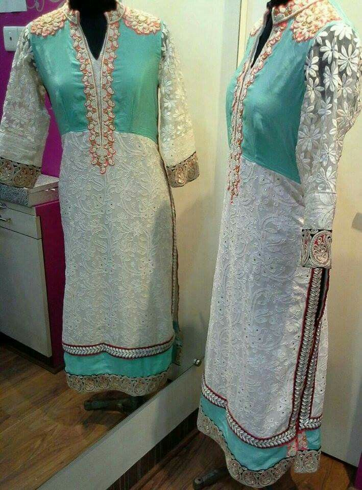 Lukhnawi embroidery suite enhanced with pearl embroidery #doublelayer #Designersuite