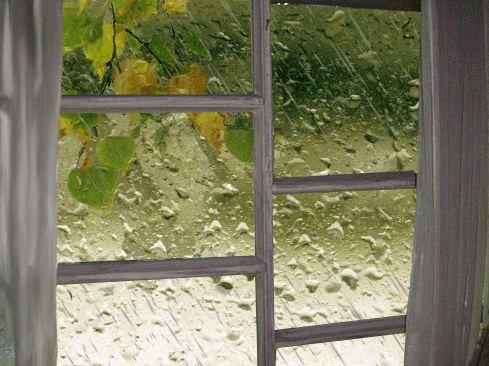 Дождь за окном (Гифка из 90ых)