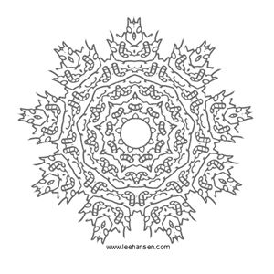 snowflake mandala coloring page snowflakes from heaven. Black Bedroom Furniture Sets. Home Design Ideas