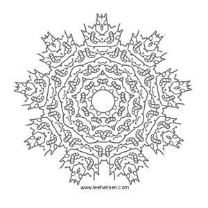 snowflake mandala coloring page - Mandala Snowflakes Coloring Pages