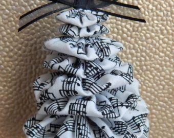 Black and White Sheet Music Yo Yo Ornaments