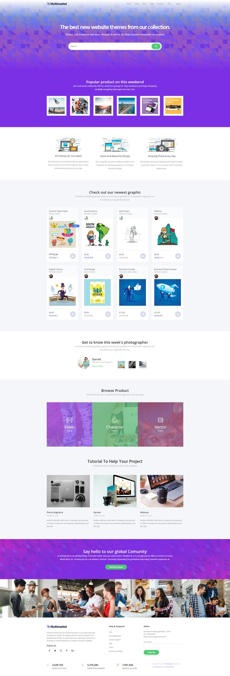 Multimarketis a perfect #theme for building marketplace #website. This theme come with #WooCommerce and Dokan Multivendor Plugin that allows you to turn your conventional store into a marketplace with many vendors inside. #website #wordpress #design