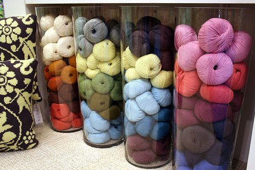 Need jars for my little balls of left over yarn. It's so much nicer to look at this way.