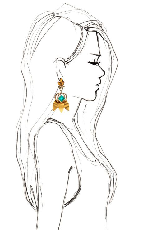 Daphne Green Earrings by Lulu Frost for Preorder on Moda Operandi
