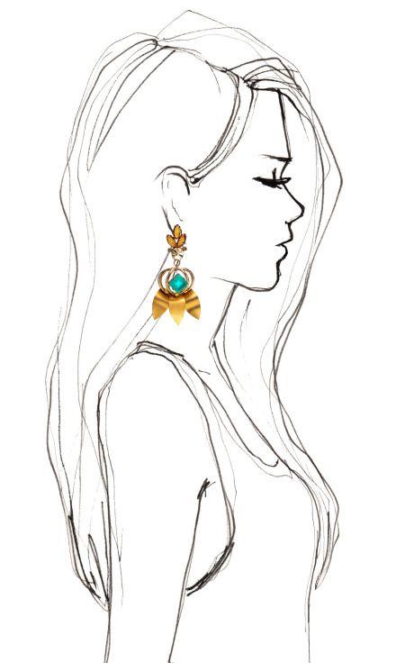 Daphne Green Earrings by Lulu Frost for Preorder on Moda Operandi