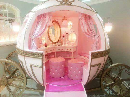 Princess Carriage Dressing Table Kids Bedroom