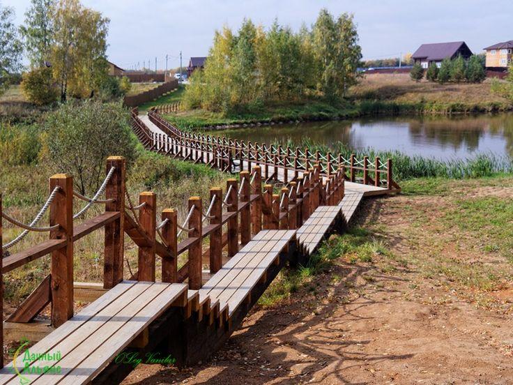 В #поселке #Экопарк вдоль пруда построена специальная дорога