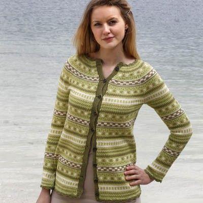 Småmønstret jakke (Luxor) - oppskrift  Hillesvag Ullvarefabrikk   Ull.no FREE PATTERN
