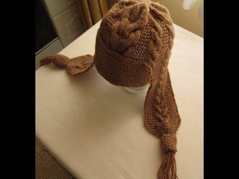 ВЯЗАНИЕ СПИЦАМИ ШАПКА С УШКАМИ С УЗОРАМИ КОСЫ! Видео урок. knitting. - YouTube