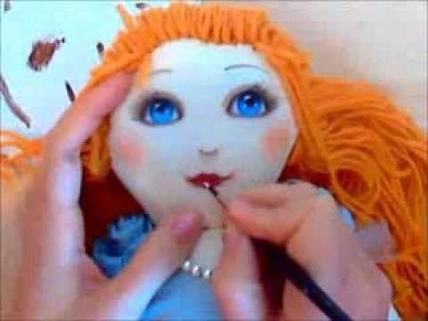 Тряпичная кукла. Как рисовать лицо