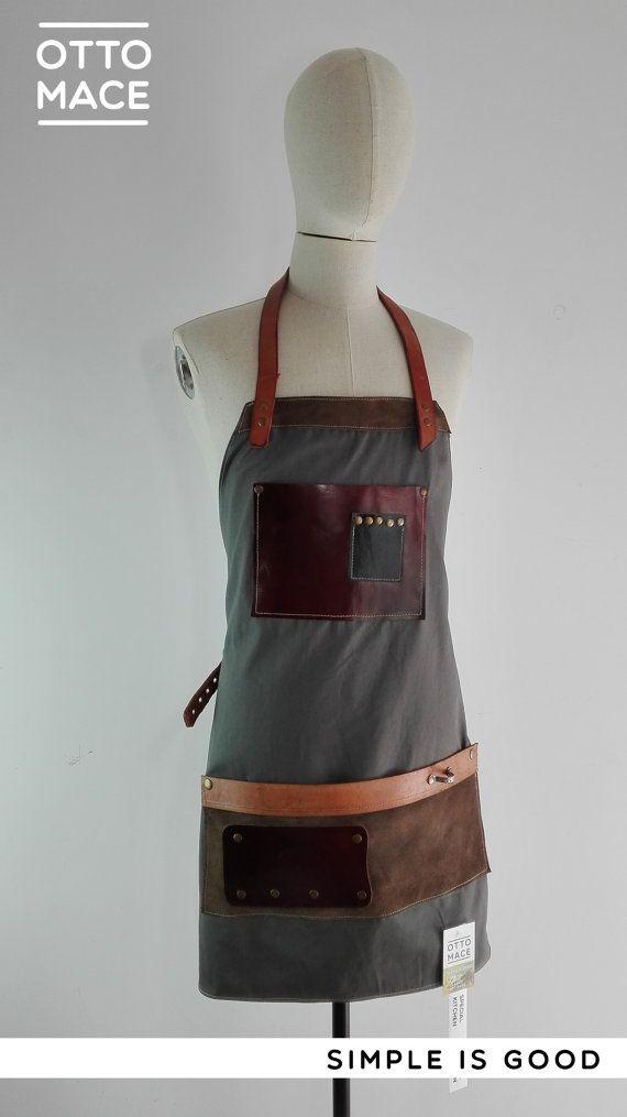SPECIAL KITCHEN - Delantal de Piel y Lona / Leather and Canvas apron