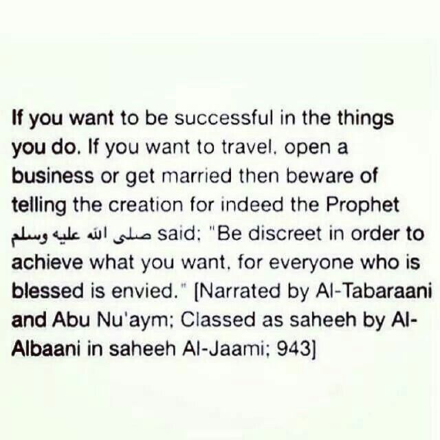 if you want to protect yourself from the evil eye ; hide your blessings from the ppl.