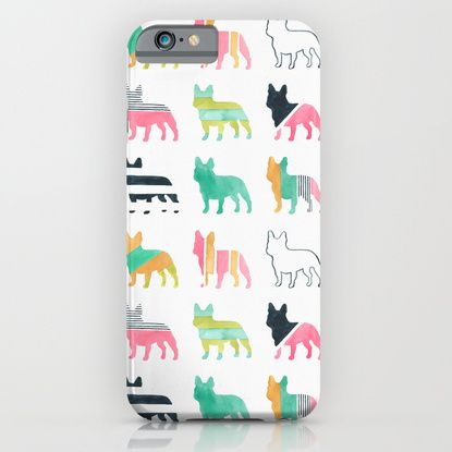French Bulldogs iPhone & iPod Case by Anne Was Here | Society6