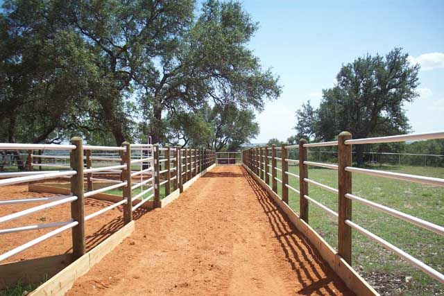 Horse Fence Possibly With Pvc And Wooden Posts