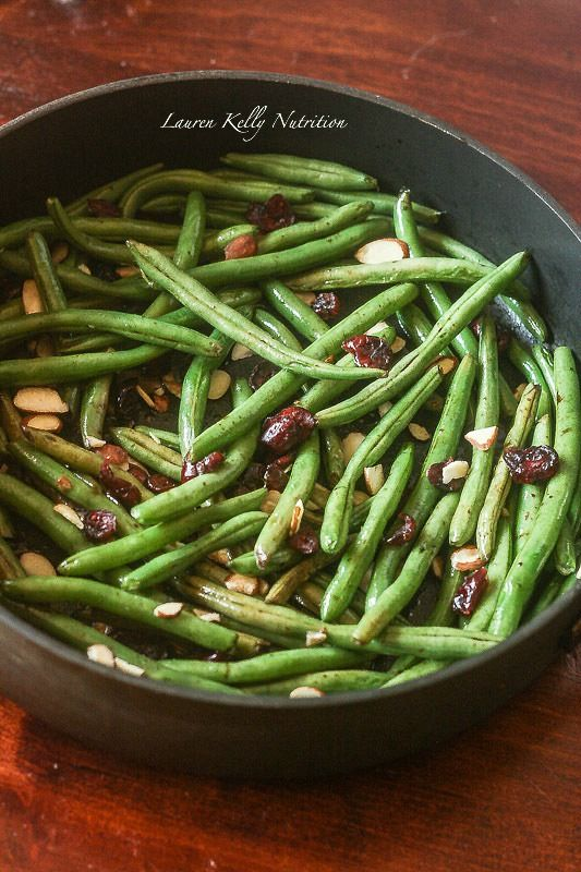 These Balsamic Green Beans are healthy and make the perfect side dish! They will be ready in 15 minutes! www.laurenkellynutrition.com
