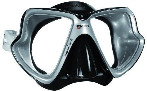 Mares X-Vision 2-Window Liquidskin Dive Mask (Silver/Black) by Mares. Mares X-Vision 2-Window Liquidskin Dive Mask (Silver/Black).