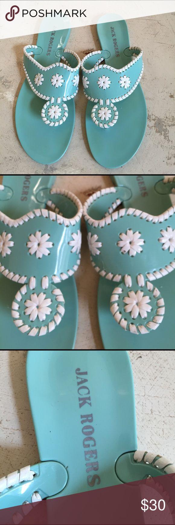 Jack Rogers Plastic Sandals Size 10 Jack Rogers Plastic Sandals. Tiffany Blue. Size 10. No trades Jack Rogers Shoes Sandals