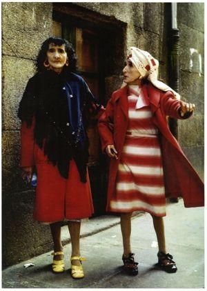 """Coralia y Maruxa Fandiño también conocidas por """"Las dos Marías"""" o """"Las dos en punto""""."""