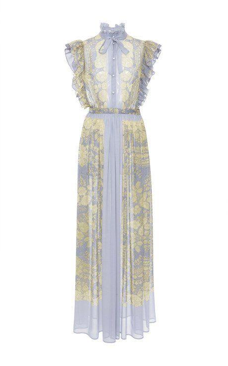 Sleeveless Printed Silk Gown by Philosophy di Lorenzo Serafini for Preorder on Moda Operandi