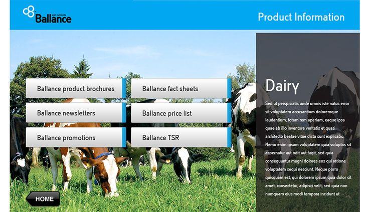 Useful way to provide an additional service to Ballance farming customers. Fingermark were commissioned to design a customer friendly user interface.