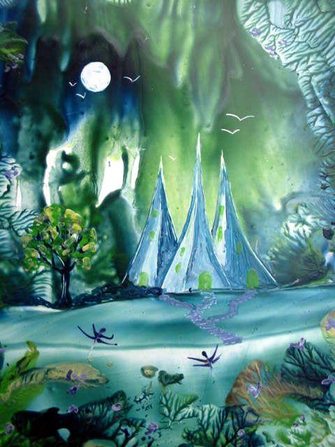 """Encaustic Art Painting """" Mesiramis"""" by Martina Loos"""