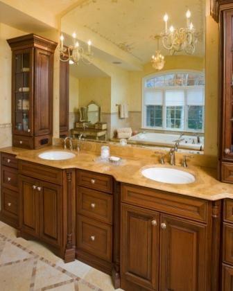 double sink master bath vanity
