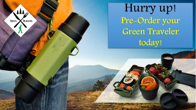 We're almost sold out of our discounted price level. Hurry up! Pre-Order your Green Traveler today!