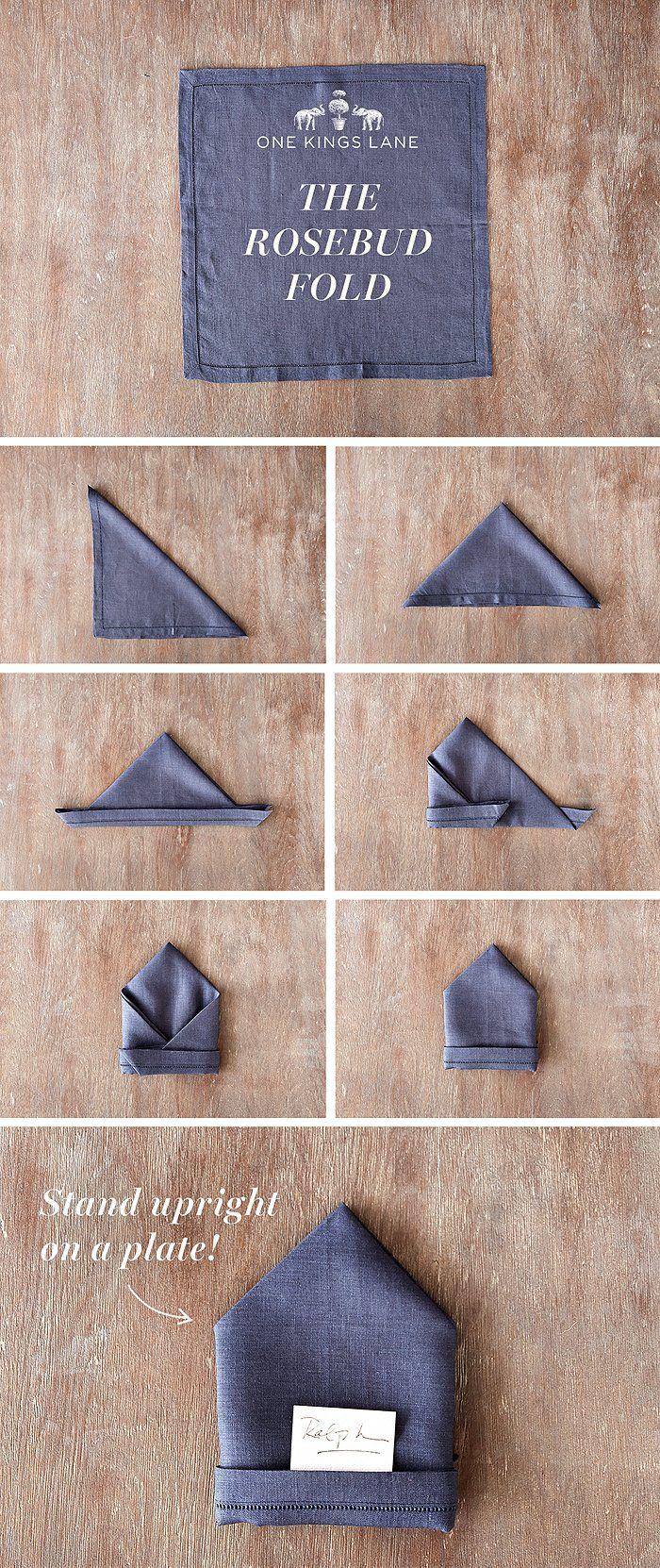 decorando con una forma diferente para doblar las servilletas