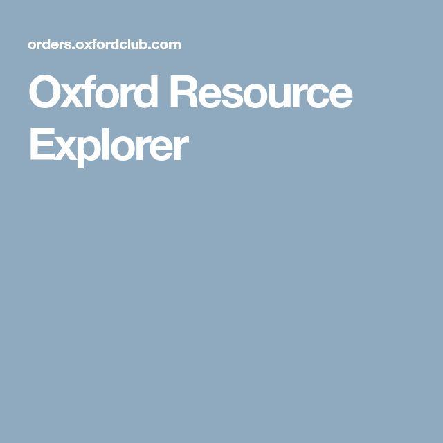 Oxford Resource Explorer